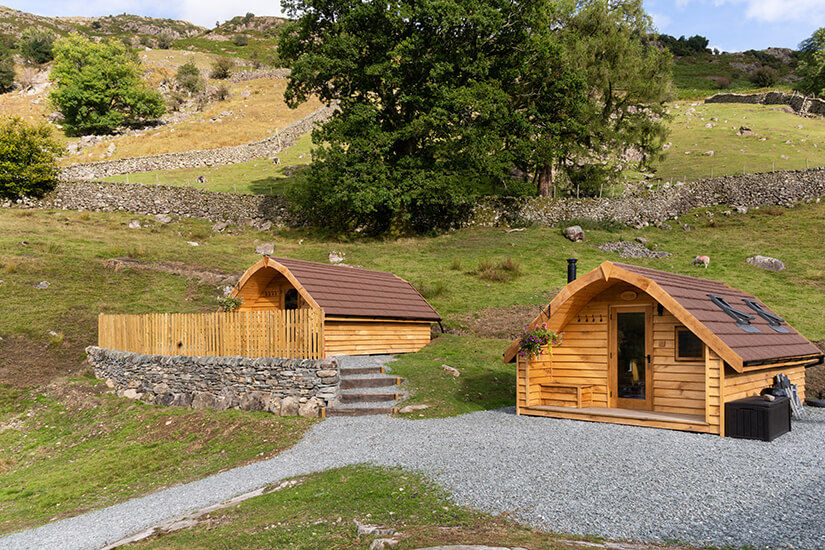Great Langdale Glamping, luxury glamping on a working Lake District fell farm