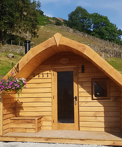 Lake District Glamping in our Luxury Glamping Pod, Pavey Ark at Harry Place Farm, Great Langdale.